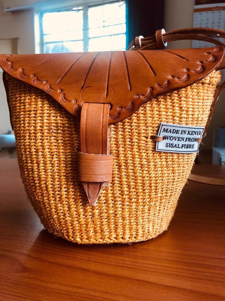 Sisal NEW Basket Handbag African Kiondo Organic Handmade in Kenya Tote