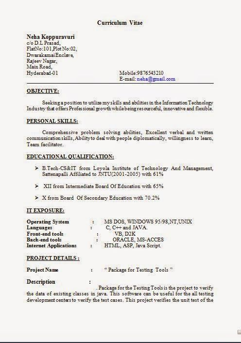 how to write an resume Sample Template Example ofExcellent CV - how to make cv resume for freshers