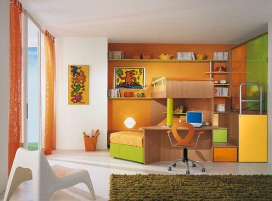 Bright Kids Room Ideas From Sangiorgio Mobili Digsdigs