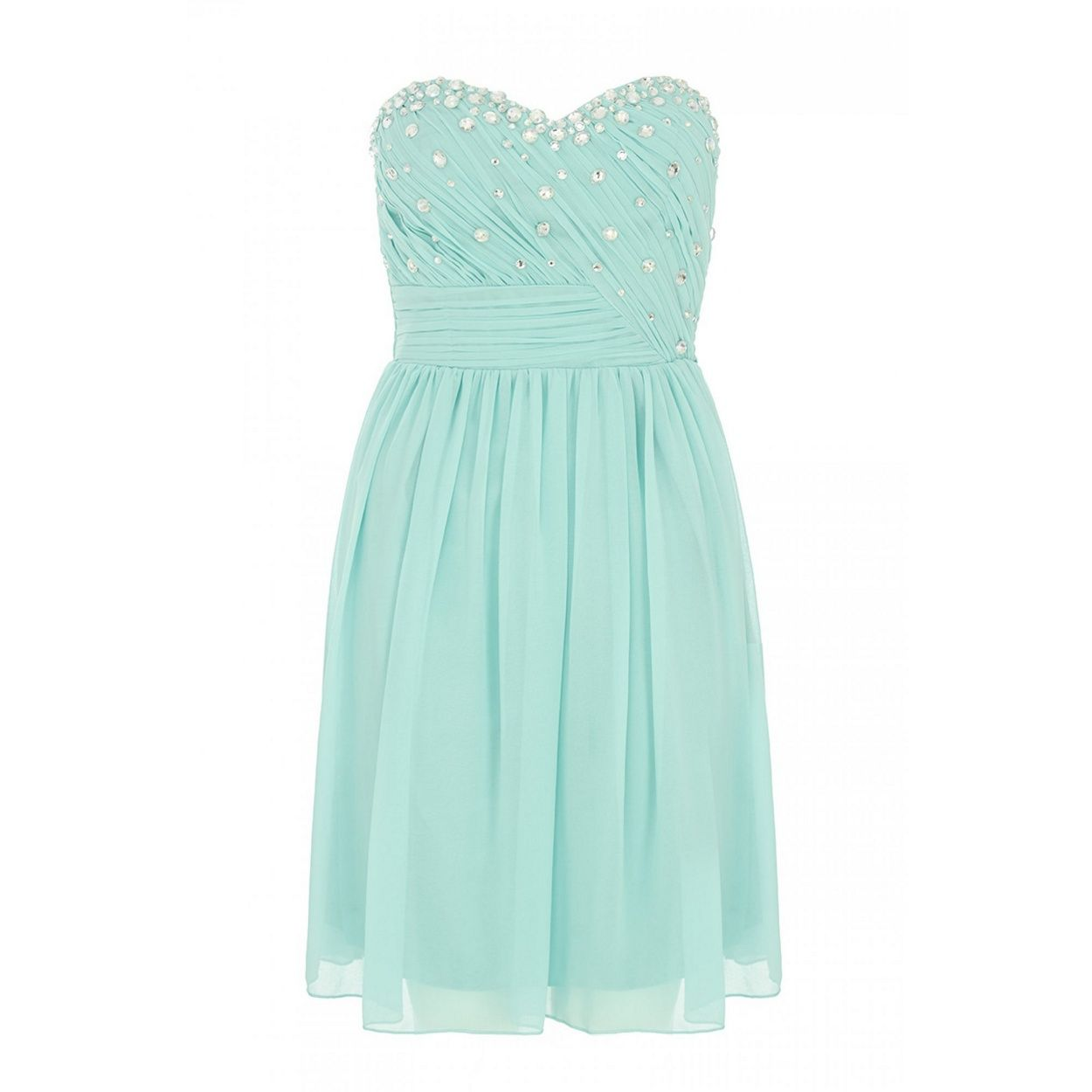 Quiz aqua and silver chiffon prom dress at debenhams sewing