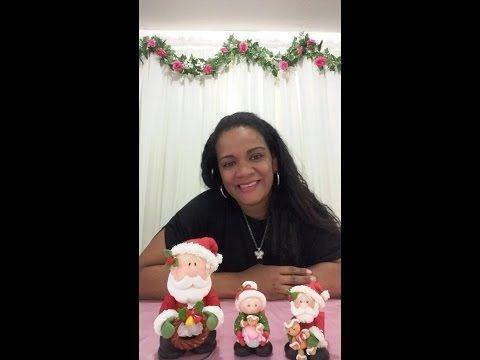 Papai Noel Porta guardanapo/ Elisangela Mota - YouTube
