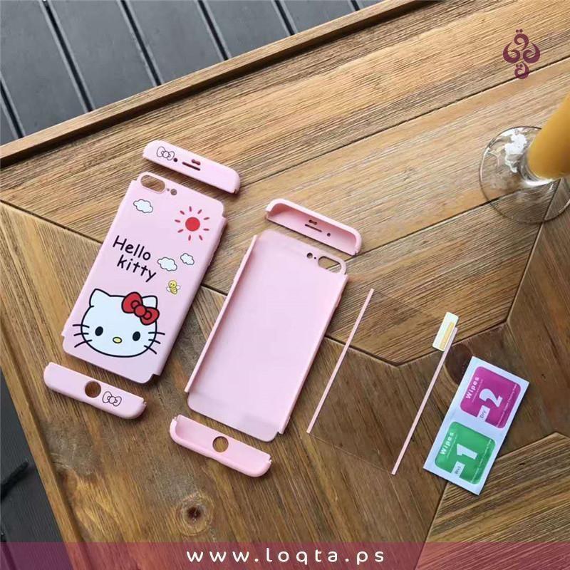 I Phone 7 Plus Hello Kitty كفر كامل متكامل غلاف خلفي وامامي وايضا لزقة شاشة ذات جودة عاليه Iphone 6s Case Protective Cases Iphone Cases