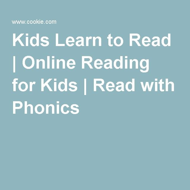 COOKIE - Kids Learn to Read | Online Reading for Kids | Read with ...