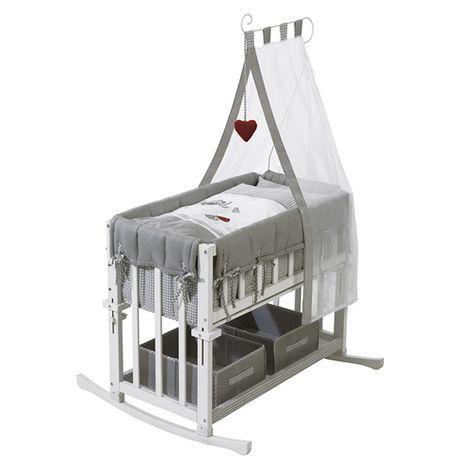 Roba Beistellbett Mit Ausstattung 4 In 1 Adam Eule 40x80 Cm Online Kaufen Baby Walz Stubenbett Beistellbett Babywiege