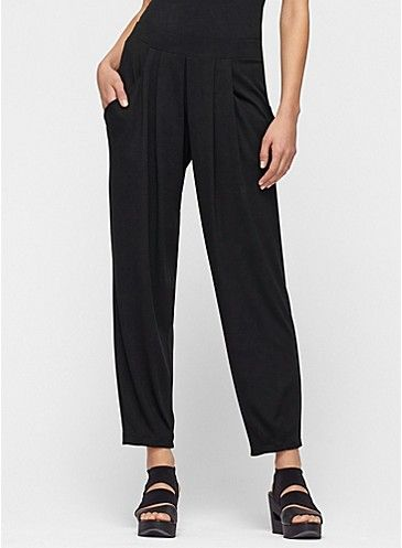 bf2f157c81ce Slouchy Ankle Pant in Viscose Jersey Black Ankle Pants