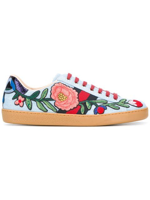 b867a2538f83 GUCCI Ace Embroidered Sneakers.  gucci  shoes  sneakers