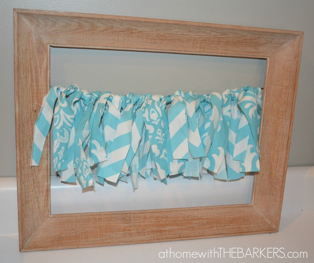 31 Days How to make a Framed Fabric Garland - At Home With The Barkers