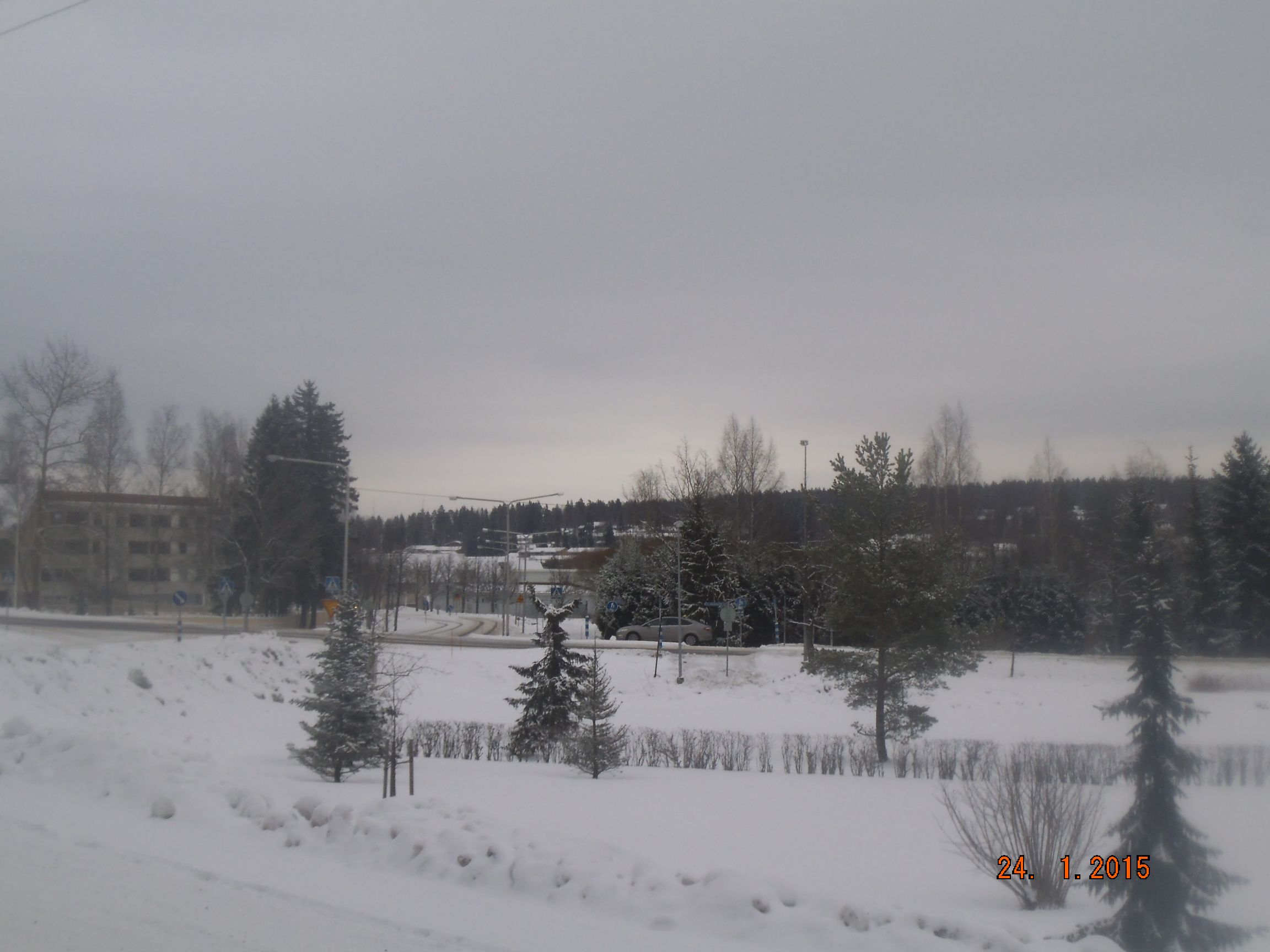 Maisemaa Halikon kirkonkylältä