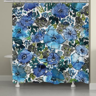 Laural Home Eclectic Bloom Shower Curtain Laural Home Eclectic