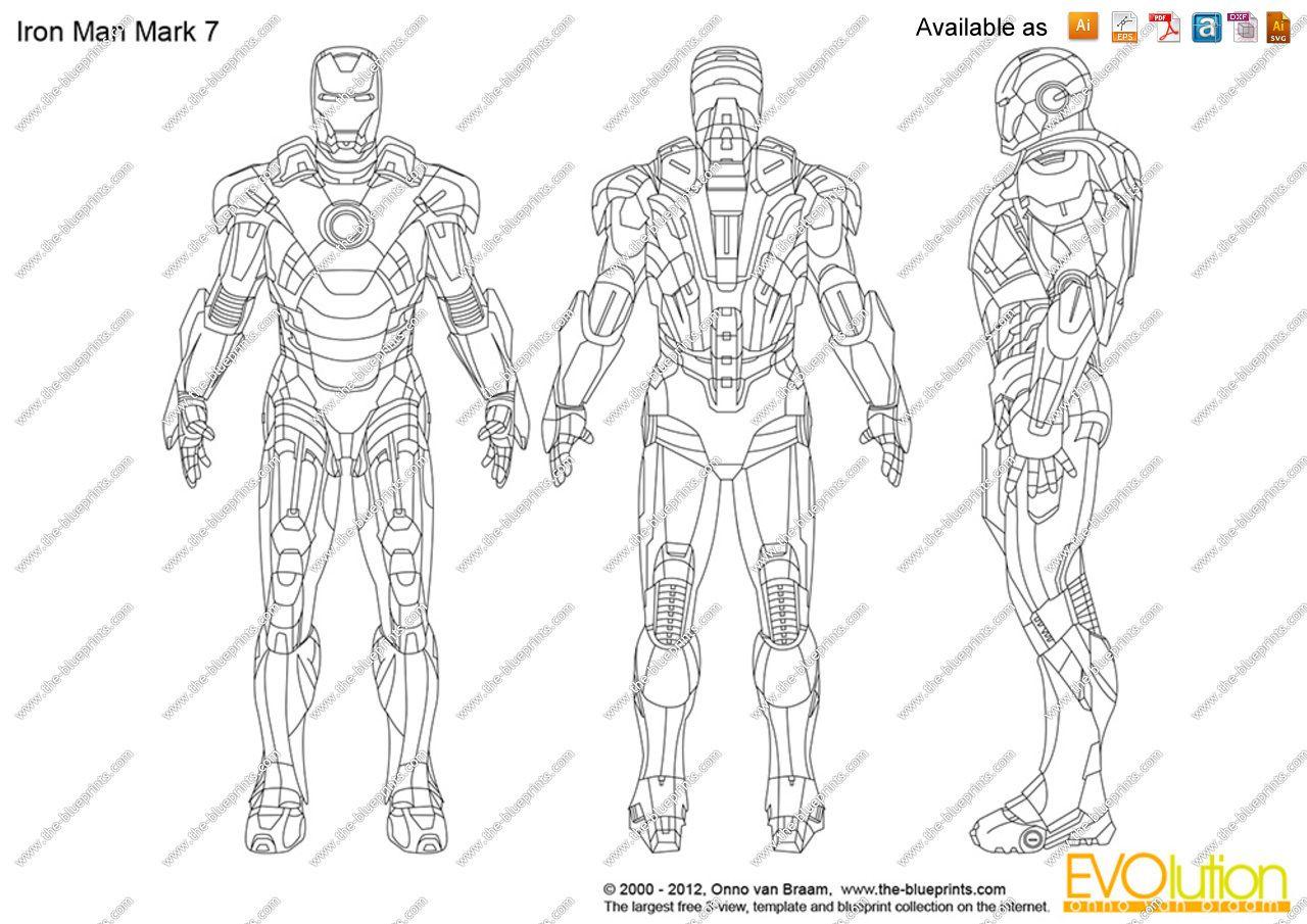 Iron Man Drawings