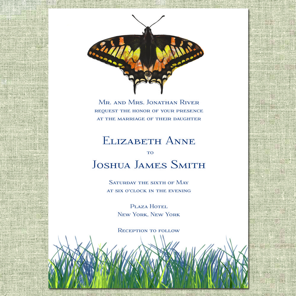 Monarch Butterfly Wedding Invitation by Creme Paperie: https://www ...