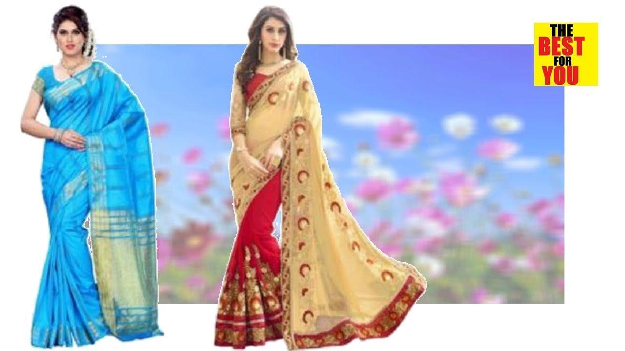 ba3f2f26b2 Latest wedding party Sari saree wedding saree collection in Flipkart and amazon  shopping online