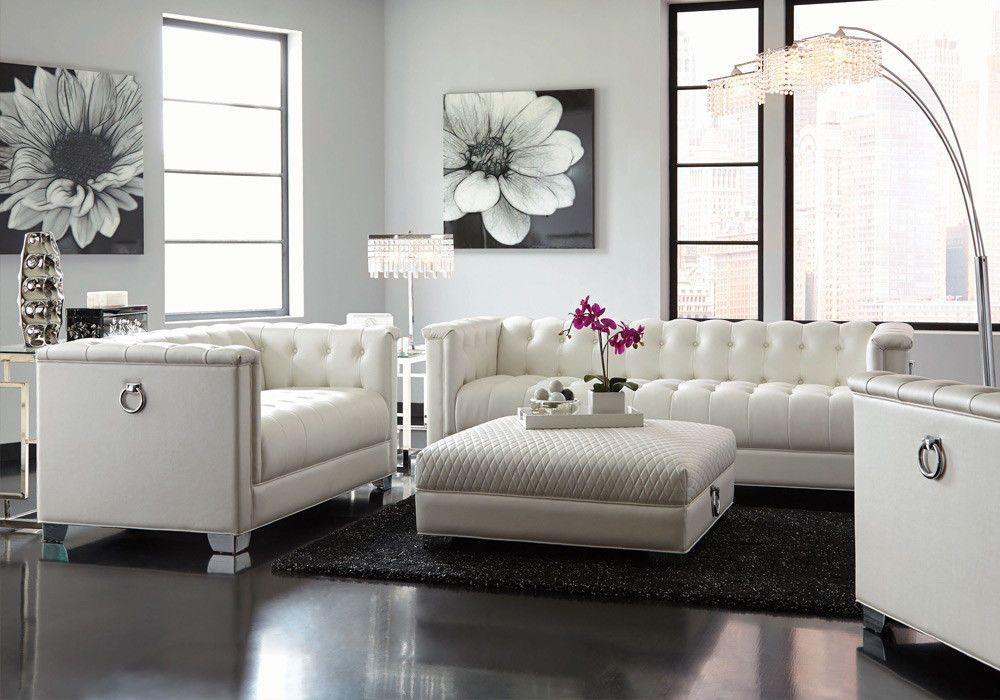 Chaviano 4 pcs Tufted Sofa Loveseat Chair