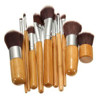 11Pcs Pinceles Brochas Cepillo Bolsa Maquillaje Cosmético Corrector Paleta