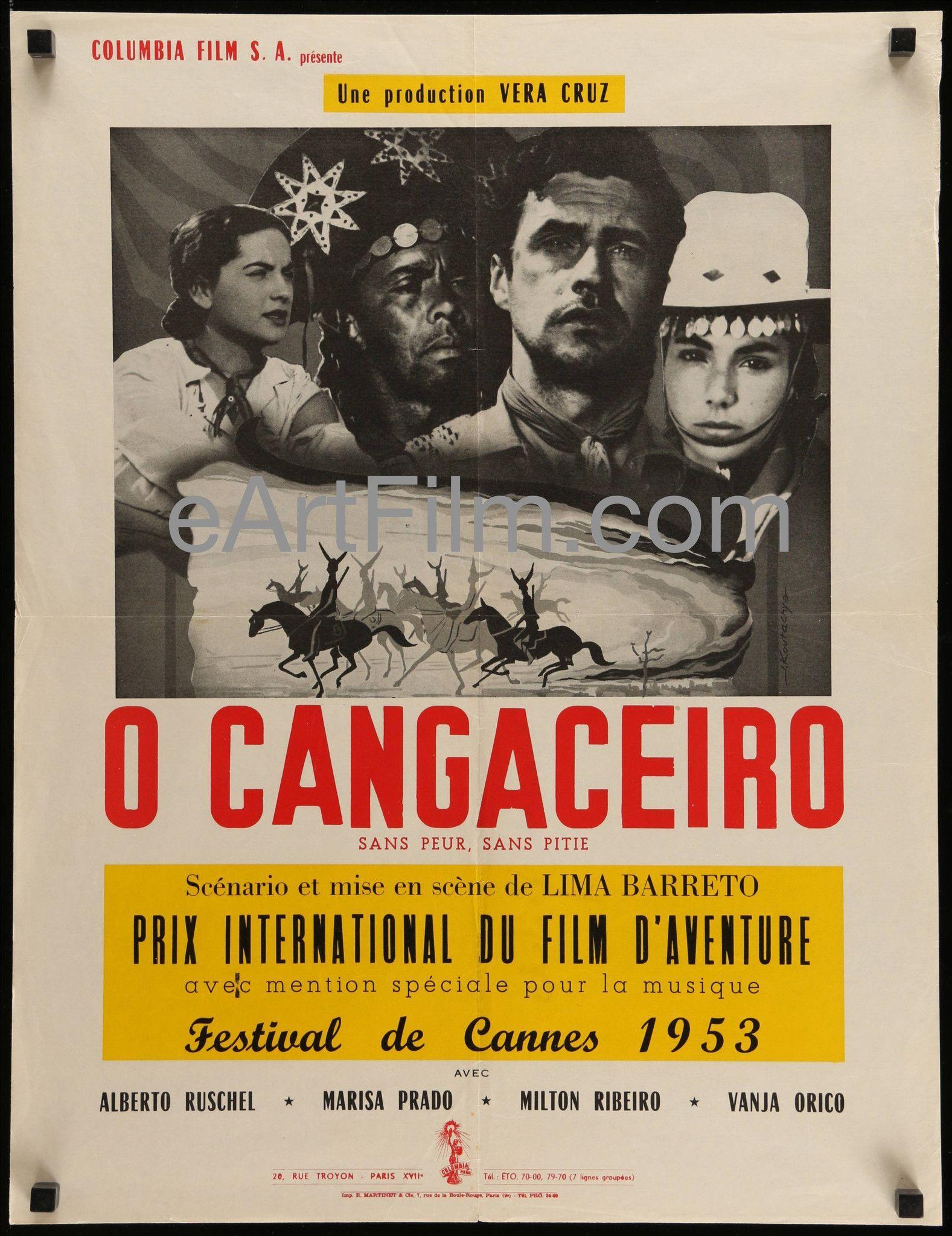 O Cangaceiro 1953 20x26 French Petite Movie Poster Cannes 1953