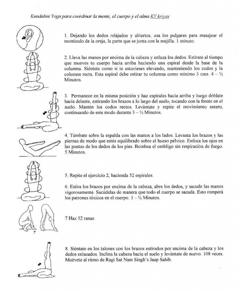 KRIYA PARA COORDINAR CUERPO,MENTE Y ALMA | Kundalini Yoga ...