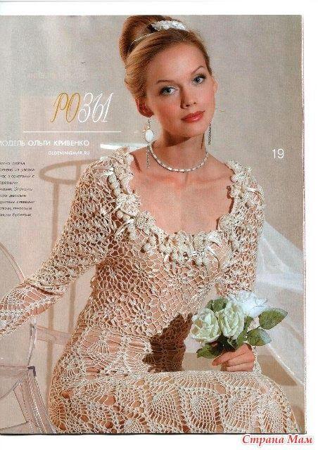 TRICO y CROCHET-madona-mía: Novias en crochet modelos con patrón ...
