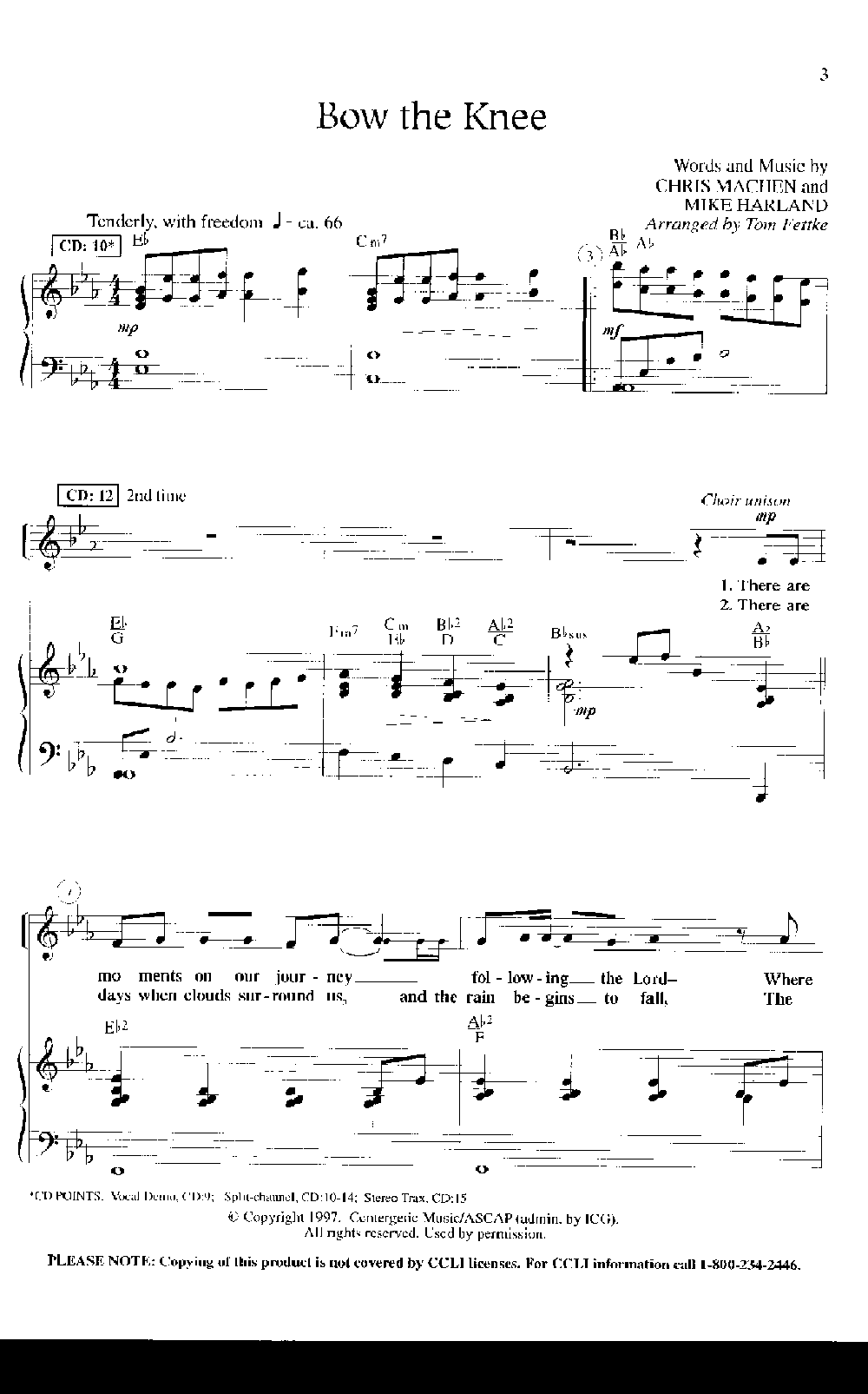 bow the knee sheet music