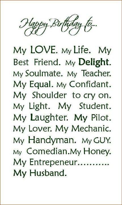 Happy Birthday Message To My Husband Splendor Of Love Pinterest