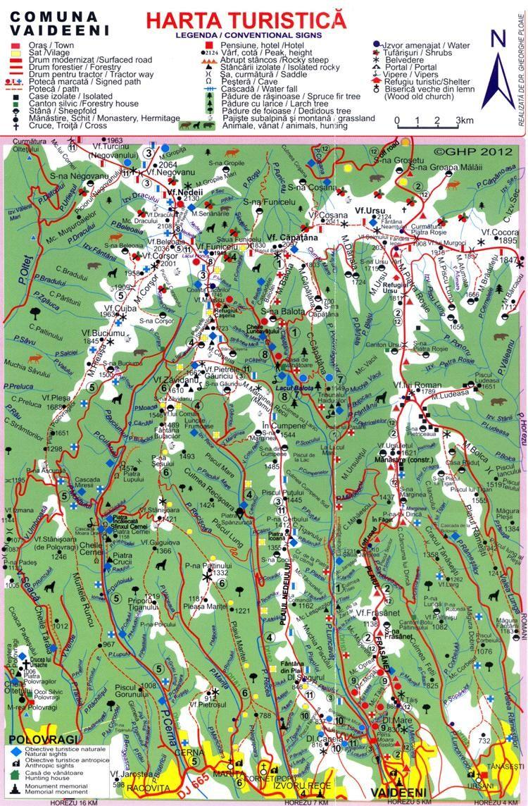 Harta Trasee Mtii Capatanii Maps Romania