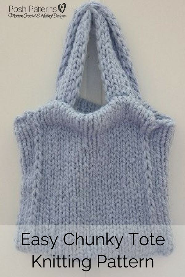 Knitting Pattern - An elegant and easy to knit chunky tote bag ...