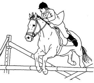 Coloring Pictures Of Horses Jumping. Jumping horse coloring page  Pony Camp Craft Ideas Pinterest