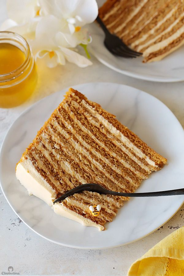 The Most Amazing Russian Honey Cake | Cleobuttera
