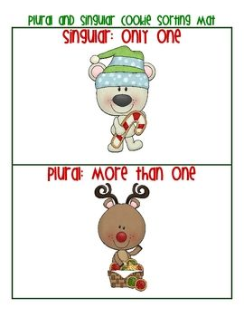 christmas cookies plural and singular noun sort free - Plural Of Christmas