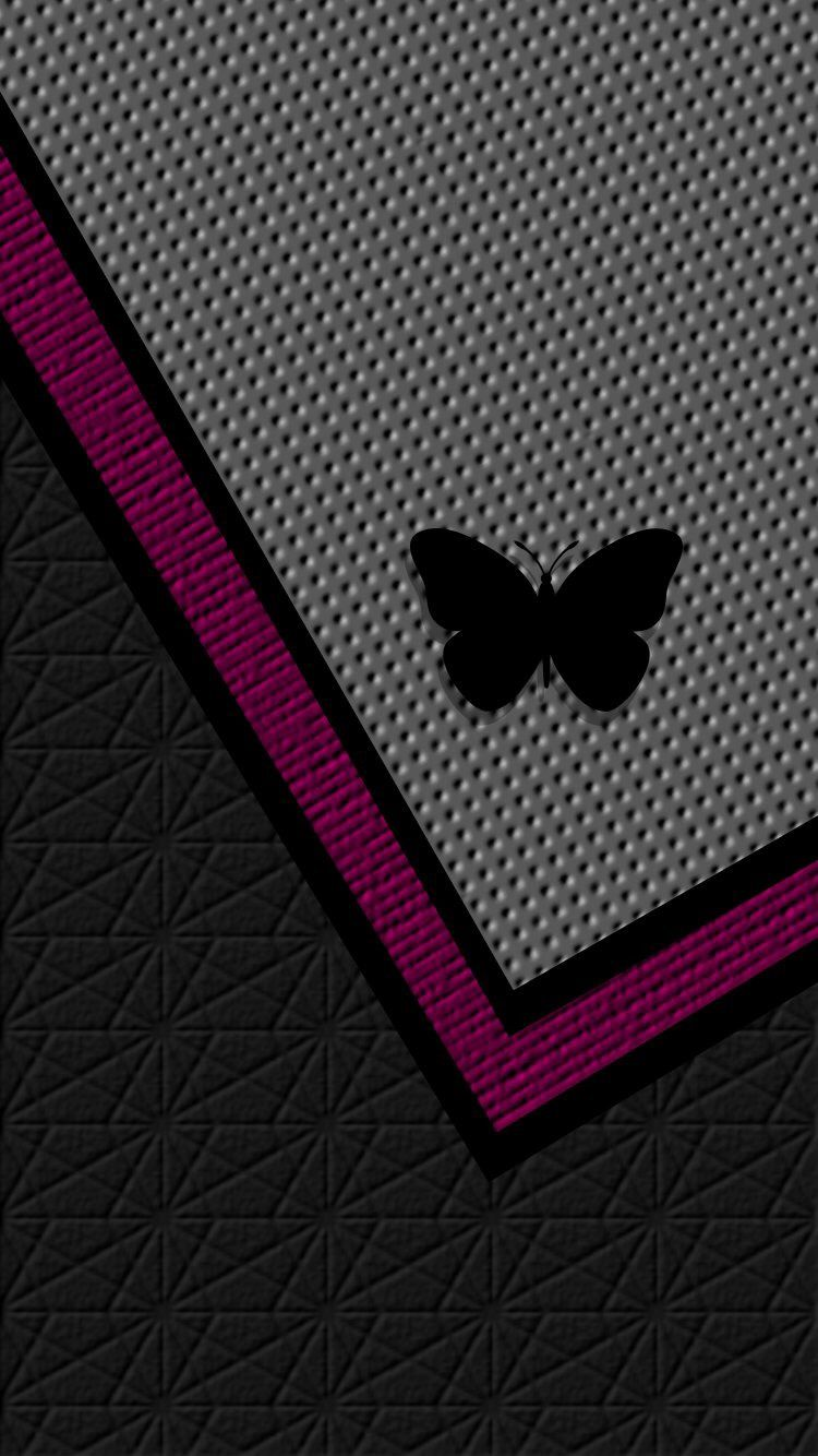 Grey Pink Black Butterfly Wallpaper Pink Wallpaper Iphone Butterfly Wallpaper Pink Wallpaper