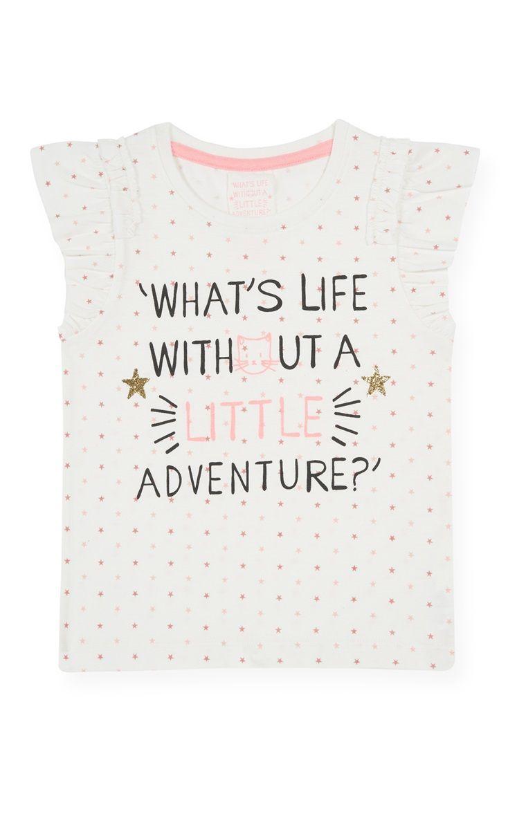 Primark - Wit T-shirt met avontuurlijke tekst