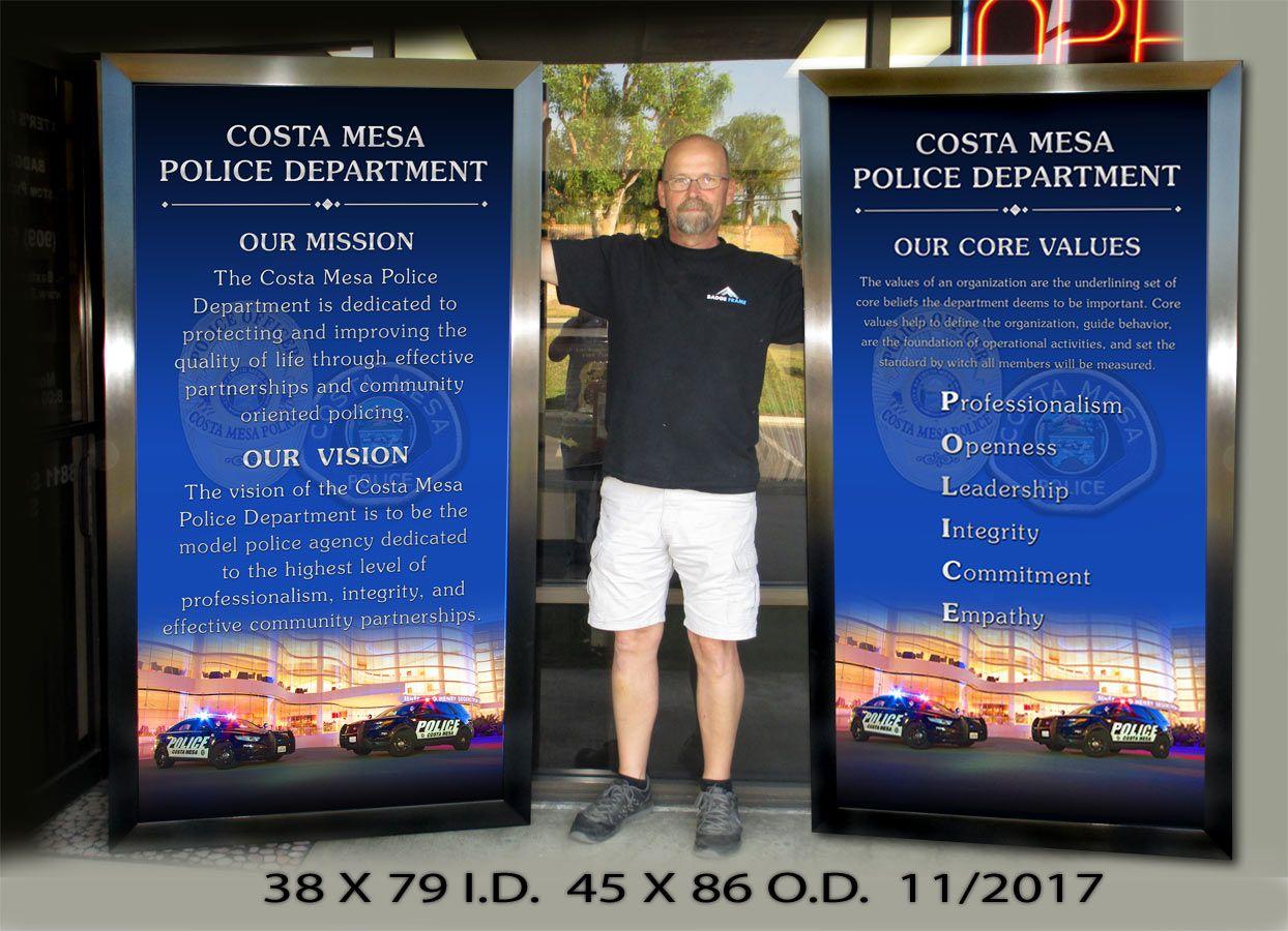Http Www Badgeframe Com Mission Mission Vision Police Department
