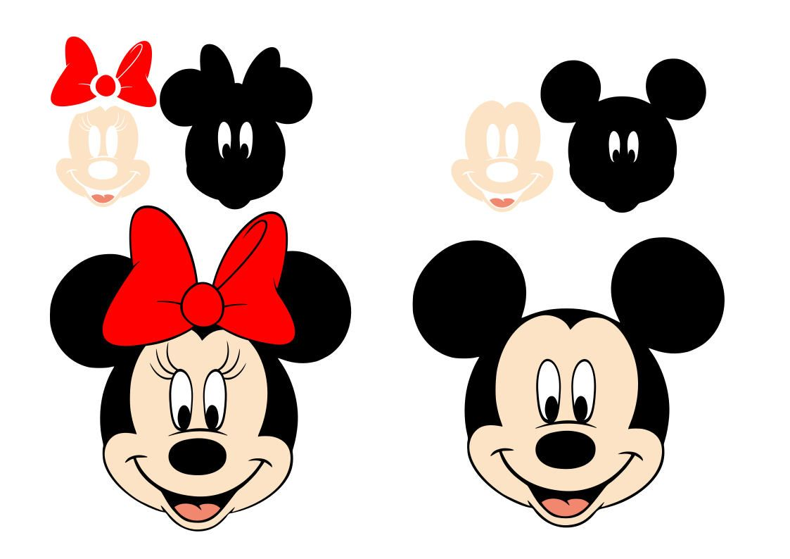 Free Disney Svg Files Logo Minnie And Mickey Mouse Svg In Sheets