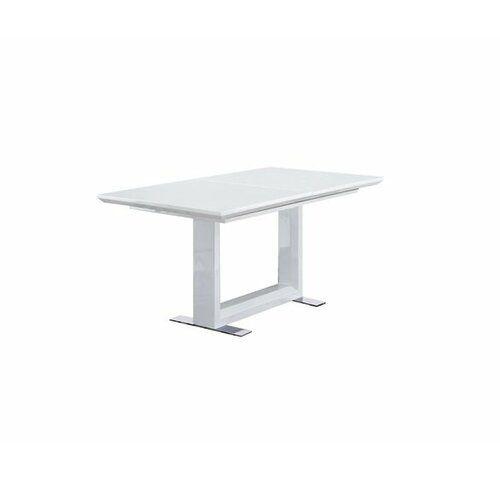 Essgruppe Allie mit ausziehbarem Tisch und 8 Stühlen Home Etc Polsterfarbe: Weiß