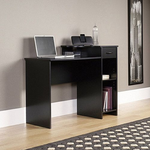 Mainstays Student Desk With Easy Glide Drawer Blackwood Finish