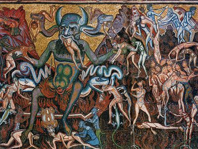 classic+paintings+of+hell | ... . Hell, and damnation are depicted at the entryway to Hell: a cave