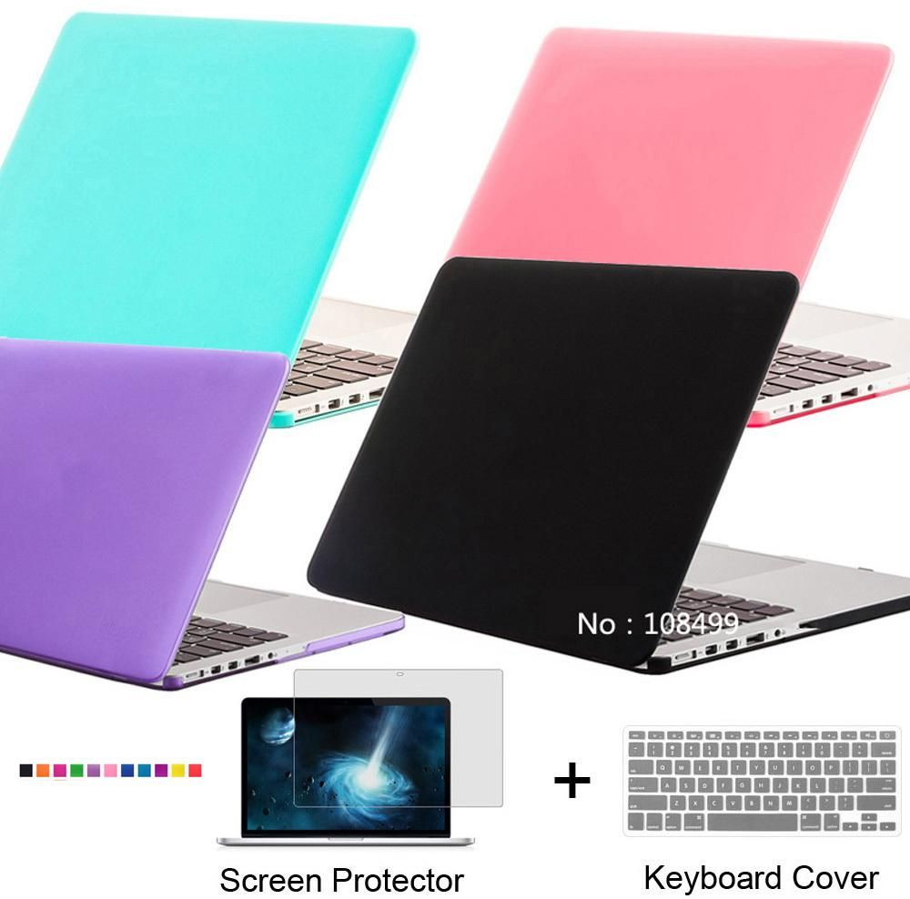 [Visit to Buy] NEW Frosted Matte Case Cover For Macbook Air Pro 11.6 12 13.3 15.4 Pro Retina 13.3 Air 15.4 inch + Screen Film + Keyboard Film #Advertisement