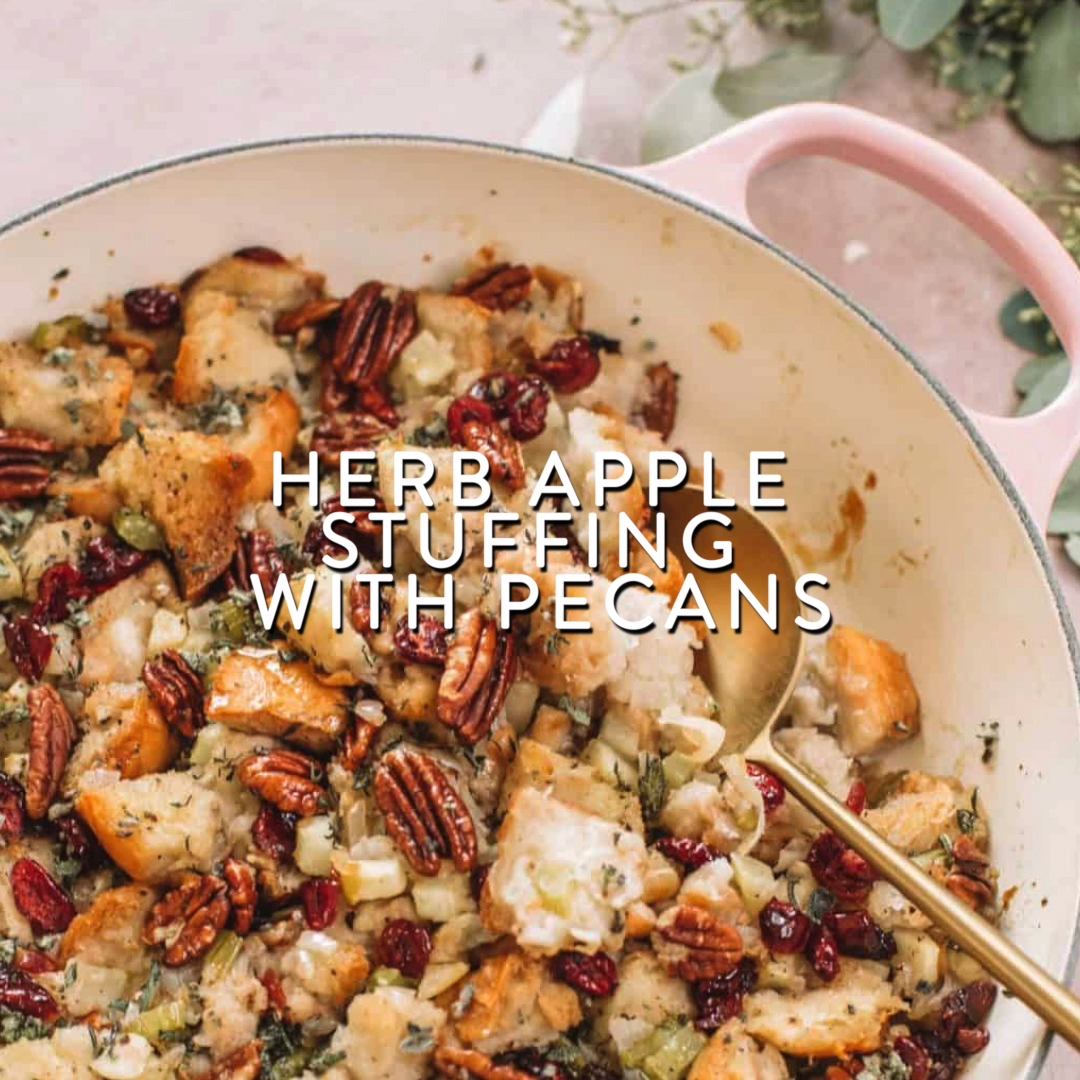 Herb Apple Stuffing with Pecans -   18 stuffing recipes easy thanksgiving ideas