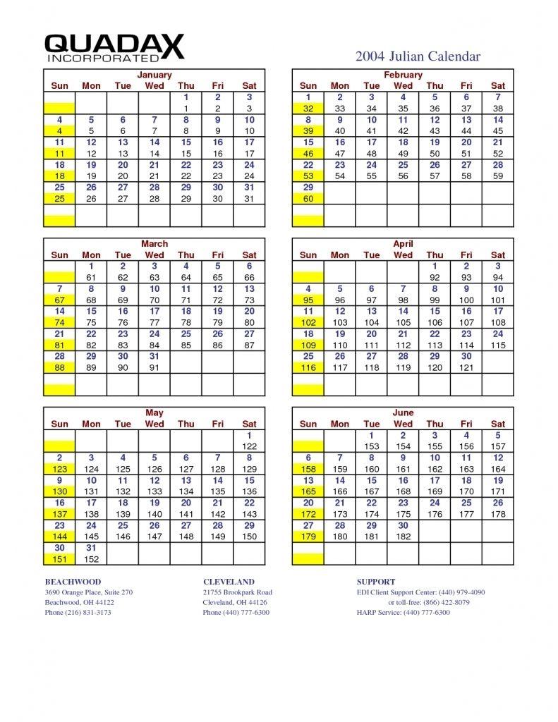 Julian Year Calendar 2015 Printable In 2020 Julian Dates Calendar Template Calendar Printables