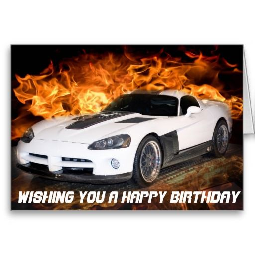 Wishing You A Happy Birthday Muscle Car Card