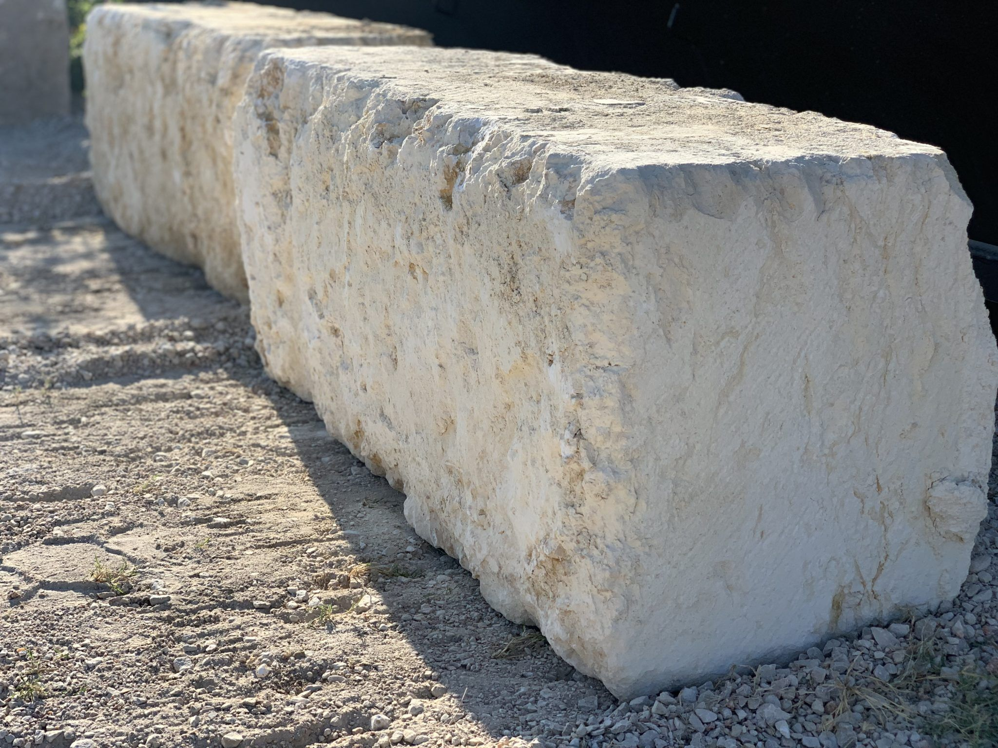 White Limestone Quarry Block
