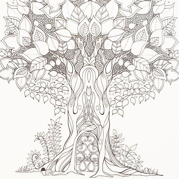 a whimsical tree crying out to be colouredjohanna