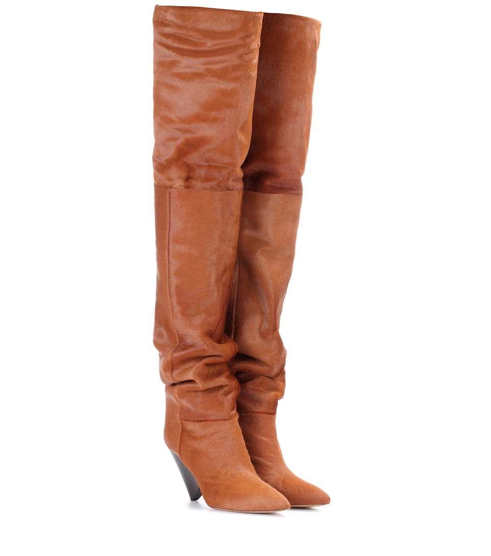 timeless design c1cb0 f084c ISABEL MARANT Lostynn Calf-Hair Boots. #isabelmarant #shoes ...