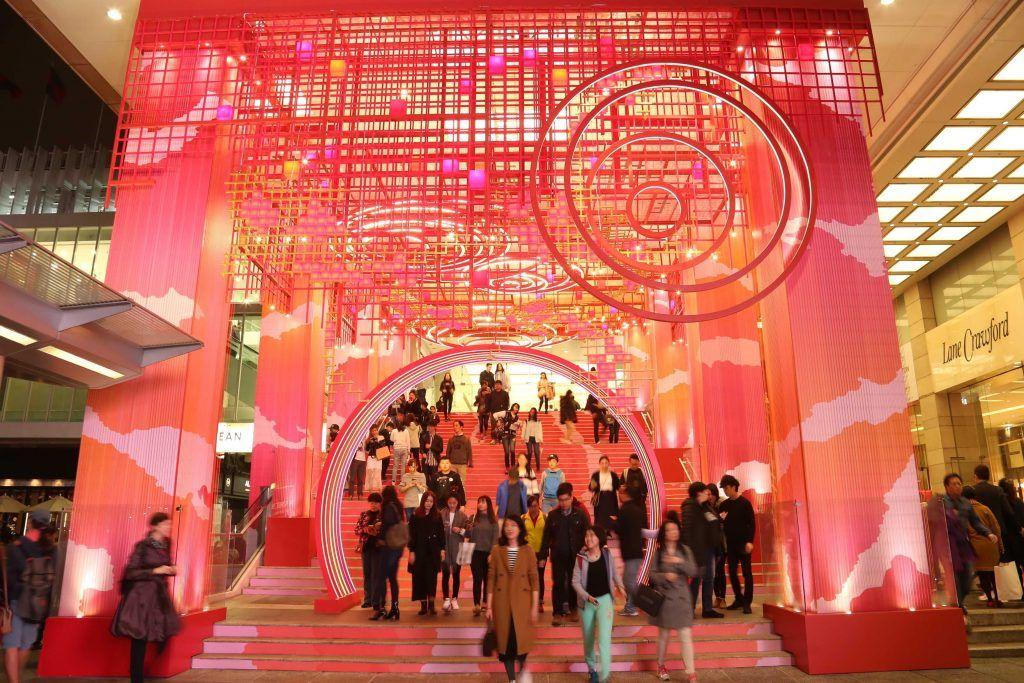 Entrance Habour City Shopping mall at night, HongKong