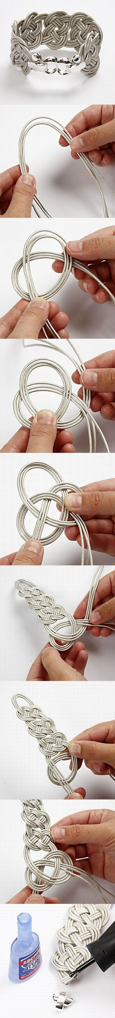 knot bracelet, pretty cool. girls might like to make one
