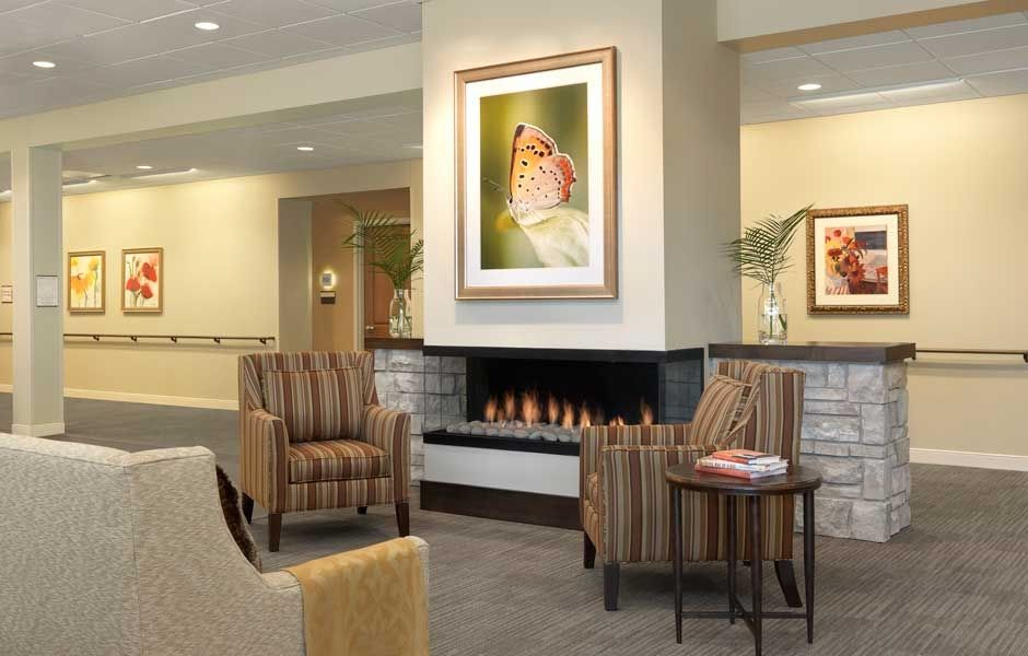 The lodge at sherbrooke village artwork senior living - Senior living interior design firms ...