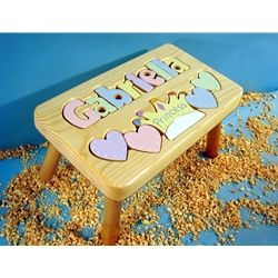 A Personalized Puzzle Stool Would Be The Perfect 1st Birthday Gift For My Niece
