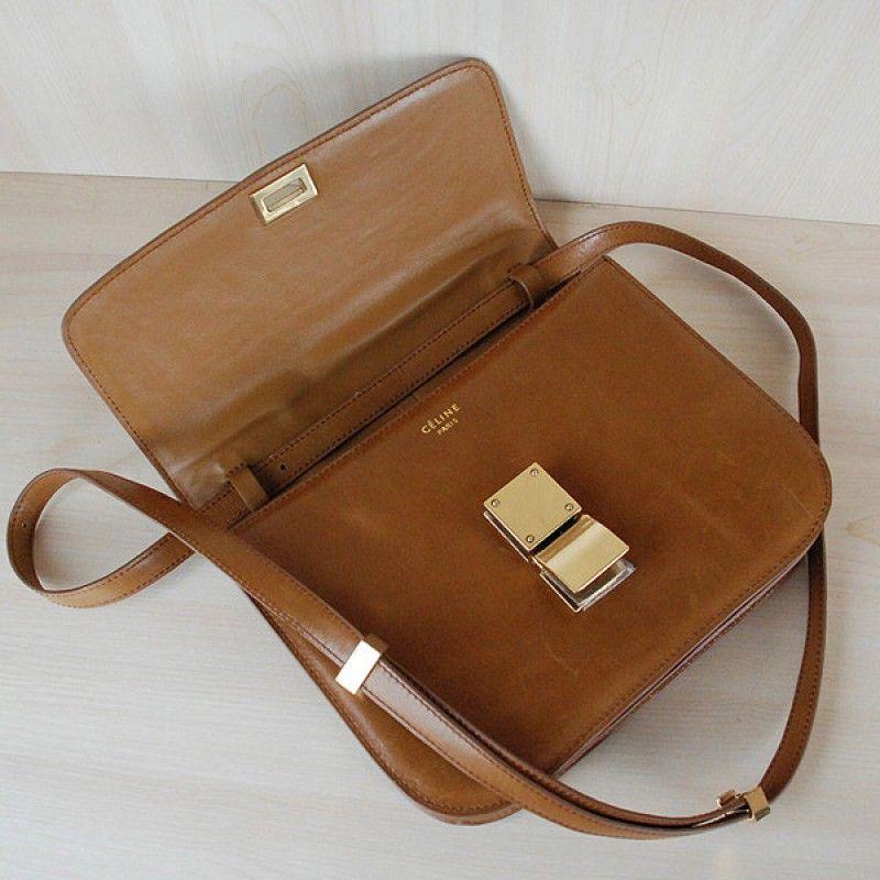 734d4209b8 Celine Classic Box Shoulder Bag Brown -