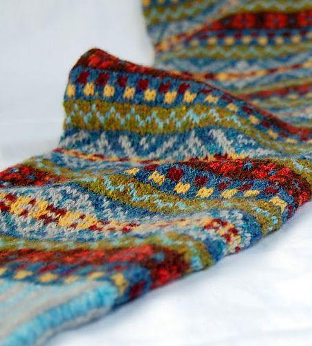 Ravelry Hgd11 S Fair Isle Scarf Fair Isle Knitting
