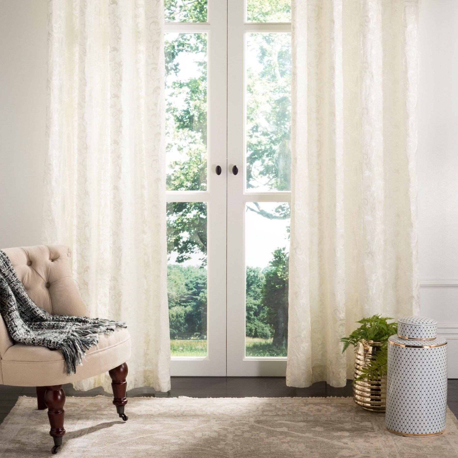 Safavieh Lerapetra Window Curtain Panel  Wdt1007A 5284