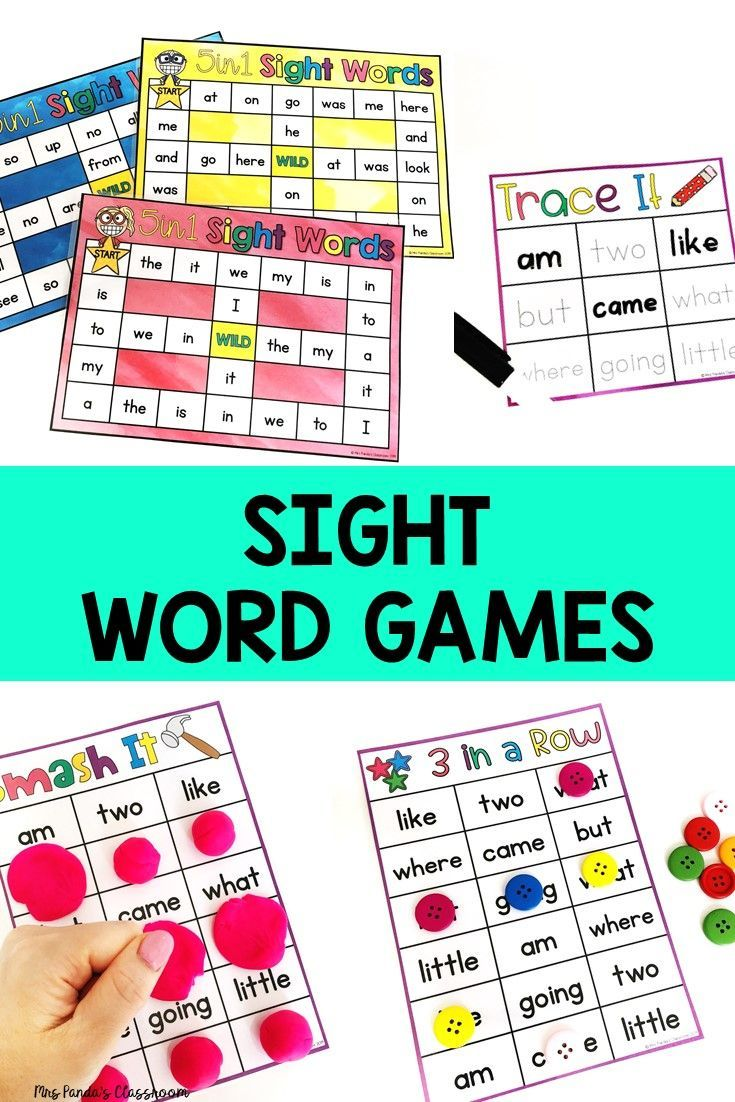 Sight Word Games for Kindergarten {Editable} Sight word